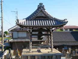 愛西市稲葉町西光寺鐘楼堂外見の写真