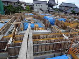 寺院仏閣の建て方・お寺の本堂新築・修復工事写真