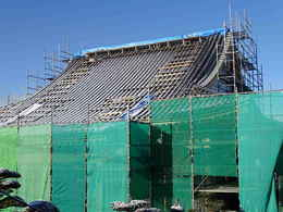 寺院仏閣の建て方・仏教寺院の本堂新築・修復工事写真