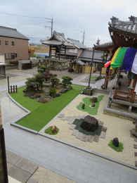 愛西市のお寺・西光寺の本堂と境内の写真