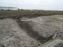 愛西市西光寺の東側大駐車場工事写真・愛西市西光寺本堂新築工事写真