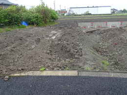 愛西市西光寺の東側大駐車場工事写真・愛西市西光寺本堂の作り方