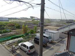 愛西市西光寺の東側大駐車場工事写真・愛知県愛西市稲葉町西光寺本堂新築工事写真