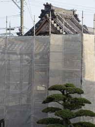 鐘楼堂・鐘つき堂の修復工事写真・愛西市西光寺本堂の建築方法