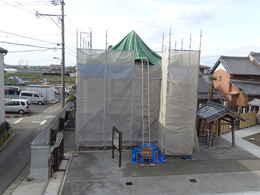 鐘楼堂・鐘つき堂の修復工事写真・本堂建築写真