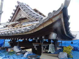 鐘楼堂・鐘つき堂の修復工事写真・愛西市稲葉町西光寺本堂新築工事写真