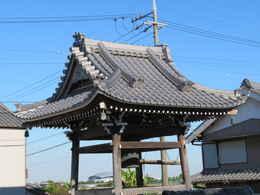 愛西市稲葉町西光寺の本堂・庫裏・鐘楼堂・境内の写真